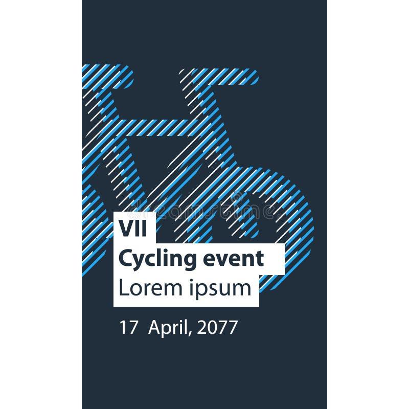 Mette in mostra l'attività, evento della bicicletta illustrazione vettoriale