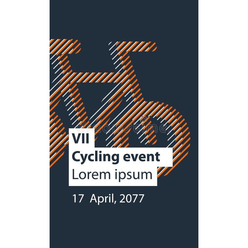 Mette in mostra l'attività, evento della bicicletta illustrazione di stock