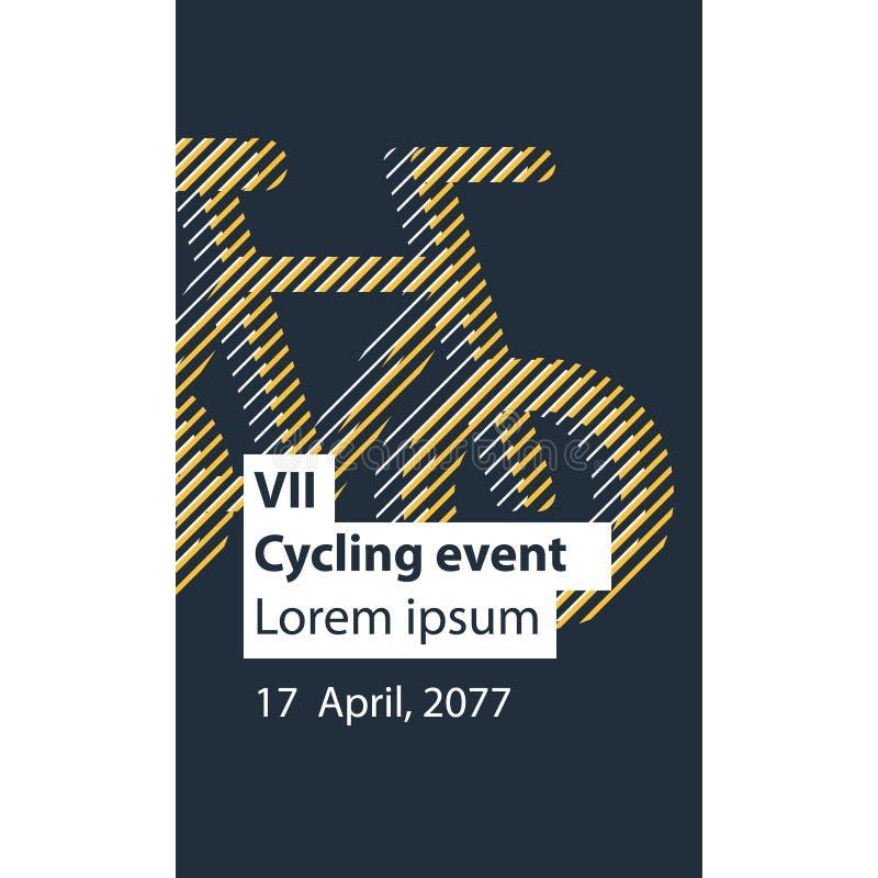 Mette in mostra l'attività, evento della bicicletta royalty illustrazione gratis