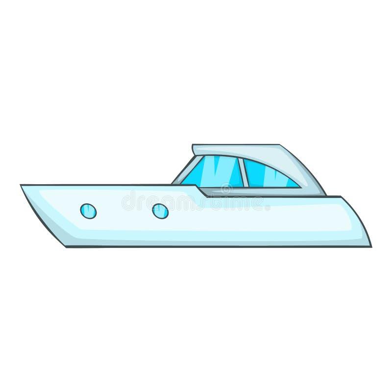 Mette in mostra l'icona di fuoribordo, stile del fumetto illustrazione vettoriale