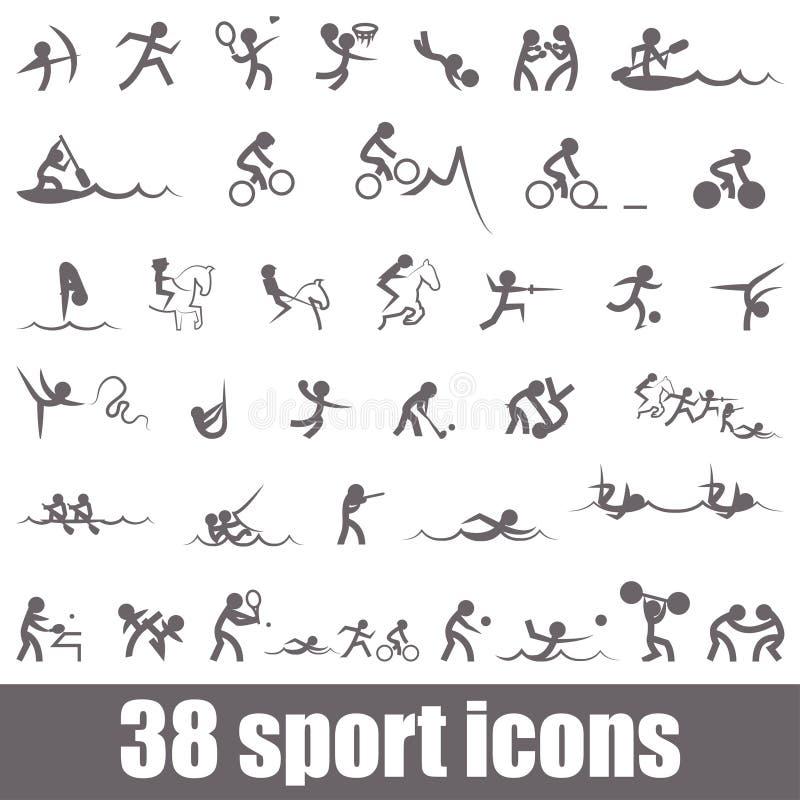 Mette in mostra le icone illustrazione vettoriale