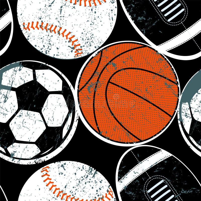 Mette in mostra le palle in un modello senza cuciture illustrazione vettoriale