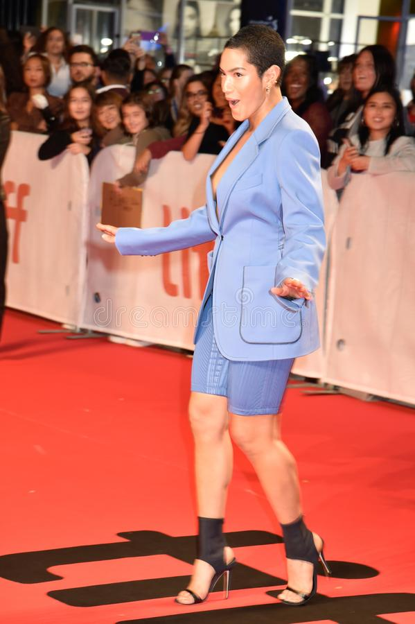 Mette Towley at the premiere of Hustlers movie at Toronto International Film Festival stock images