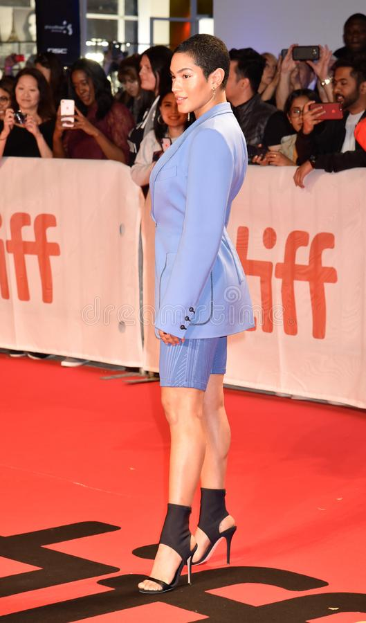Mette Towley at the premiere of Hustlers movie at Toronto International Film Festival stock photography