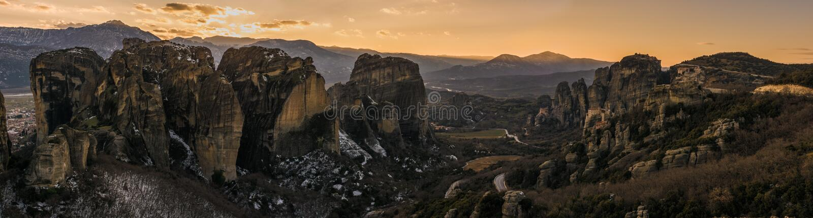 Metteora in greece royalty free stock photos