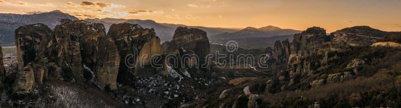 Metteora in Griekenland royalty-vrije stock foto's