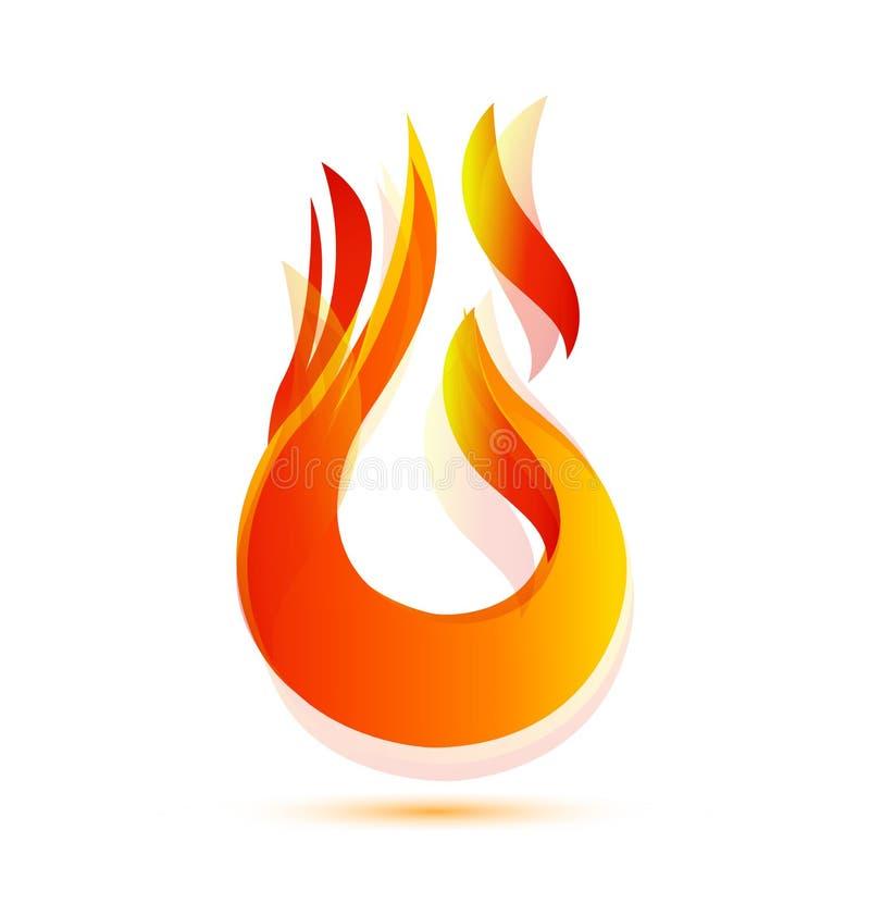 Mettez à feu l'icône brûlante de flamme illustration de vecteur