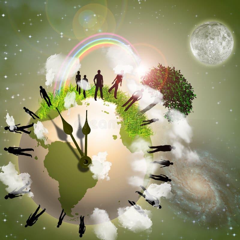 Mettez à la terre Eco illustration libre de droits