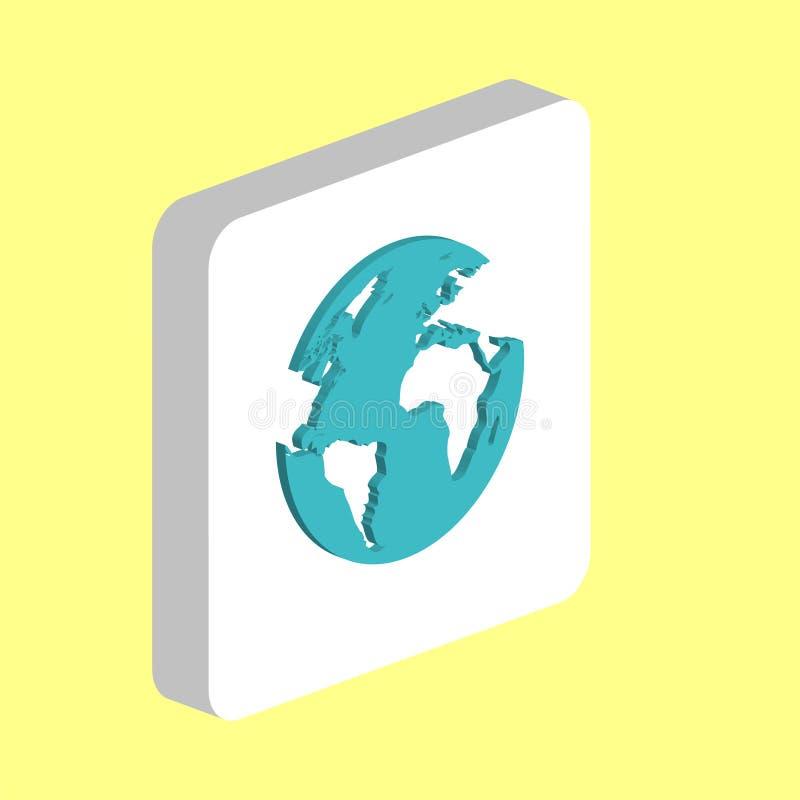 Mettez à la terre le symbole d'ordinateur de carte du monde pour votre projet d'affaires illustration stock