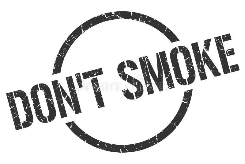 """mettez \ """"timbre de fumée de t illustration stock"""