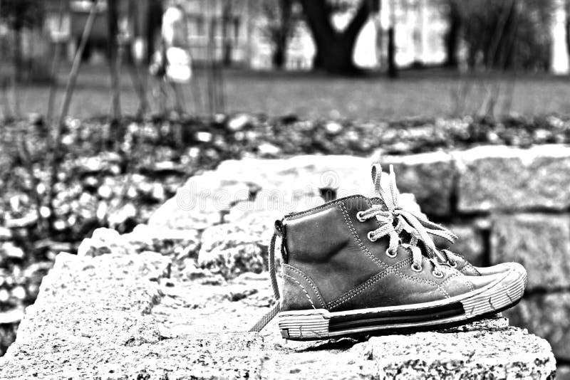 Mettez dessus vos chaussures image libre de droits