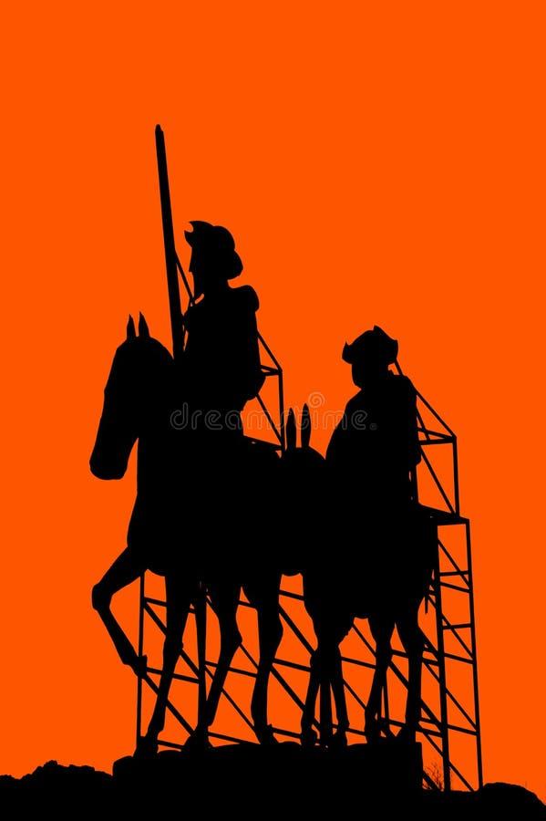 mettez don Quichotte illustration de vecteur