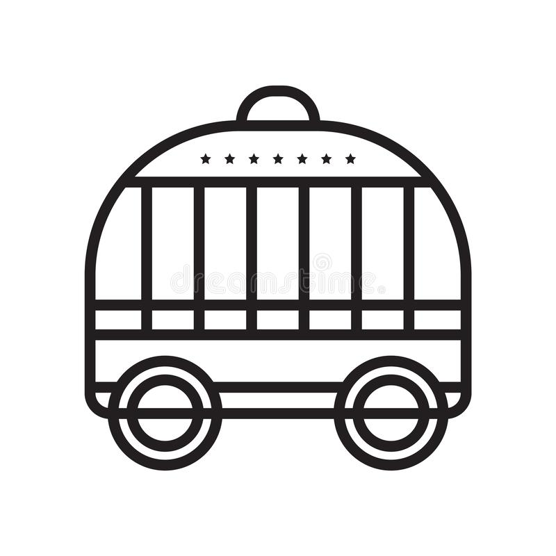 Mettez en cage le signe et le symbole de vecteur d'icône d'isolement sur le fond blanc, concept de logo de cage illustration libre de droits