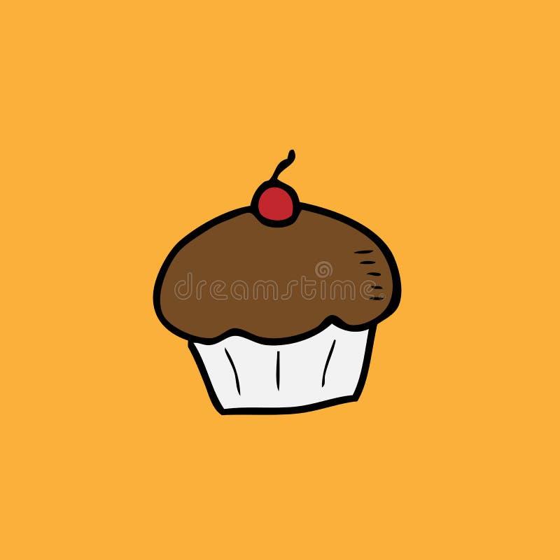 Mettez en forme de tasse le gâteau illustration stock