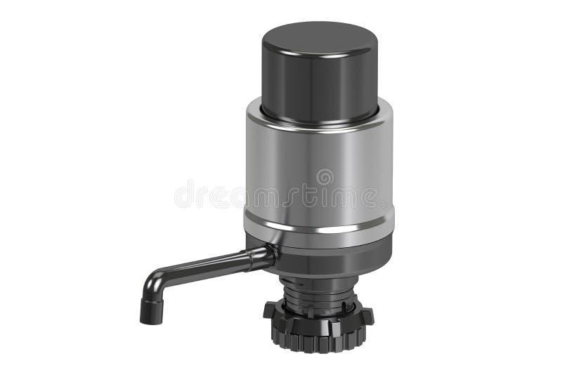 Mettez la pompe en bouteille d'eau potable, pompe de distributeur de l'eau rendu 3d illustration de vecteur