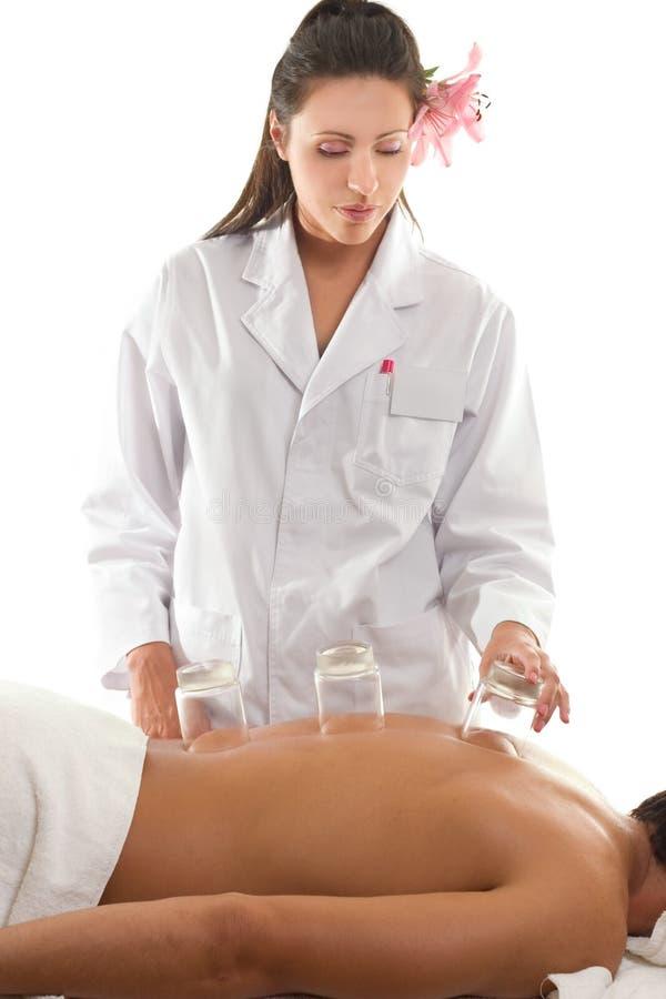Mettre en forme de tasse de massage images stock