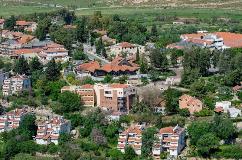 Metula是多数北部城镇在以色列 免版税库存图片