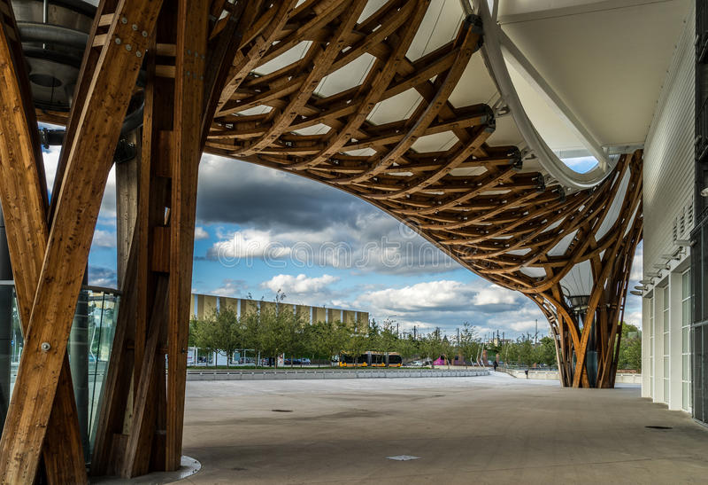 METZ FRANCE/EUROPA, WRZESIEŃ 24, -: Widok Pompidou Centre obrazy stock