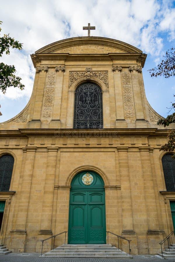 METZ, FRANCE L'EUROPE - 24 SEPTEMBRE : Vew de cathédrale de saint-e photos libres de droits