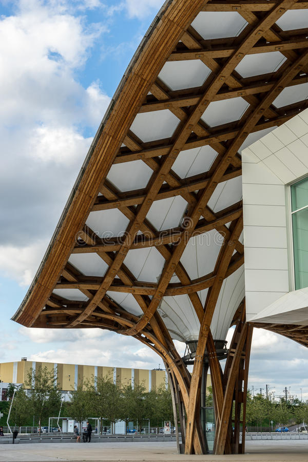 METZ, FRANCE L'EUROPE - 24 SEPTEMBRE : Vue du centre de Pompidou image libre de droits