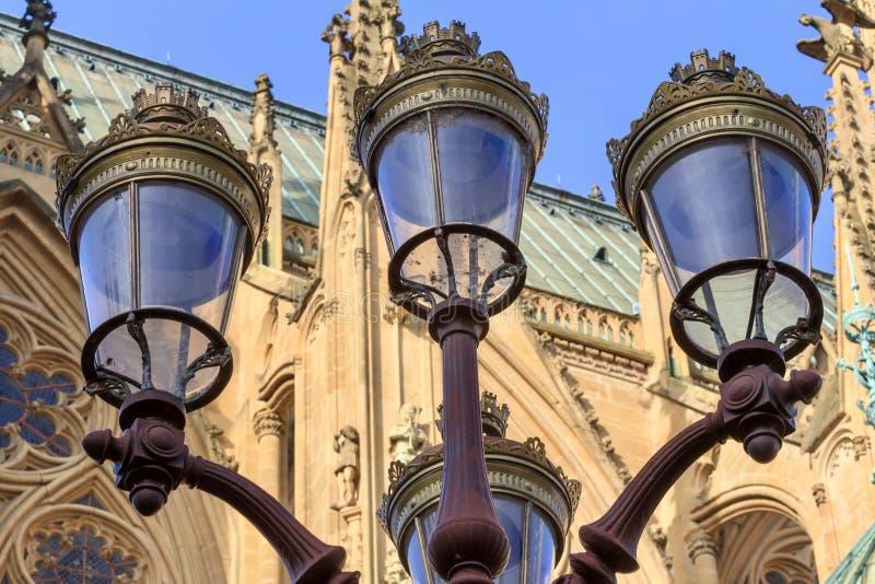 Metz Streetlampen royalty-vrije stock afbeeldingen