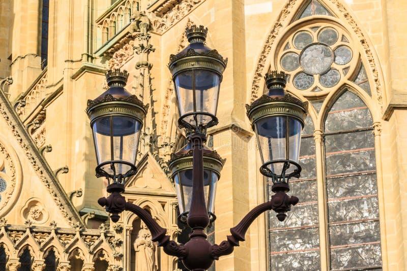 Metz Streetlampen royalty-vrije stock fotografie