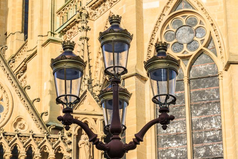 Metz StreetLamplampade fotografia stock libera da diritti