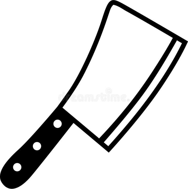 Metzger Knife Cleaver lizenzfreie abbildung