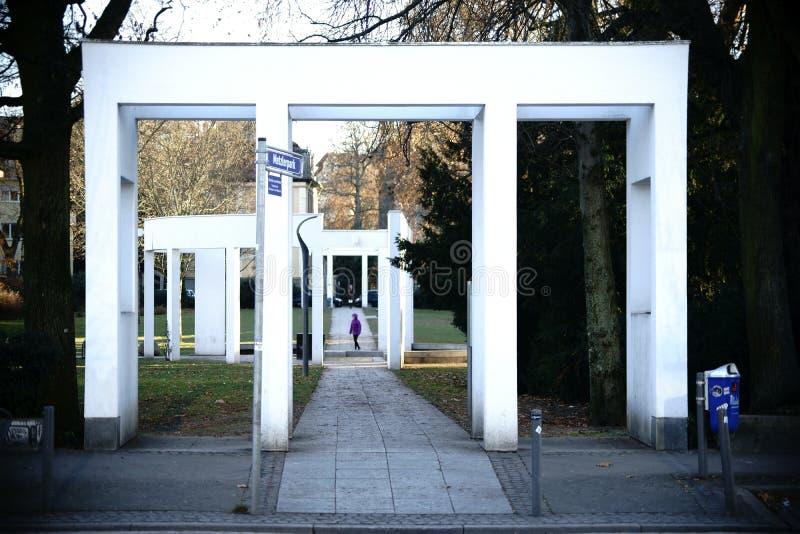 Metzlerpark Frankfurt royalty-vrije stock afbeeldingen
