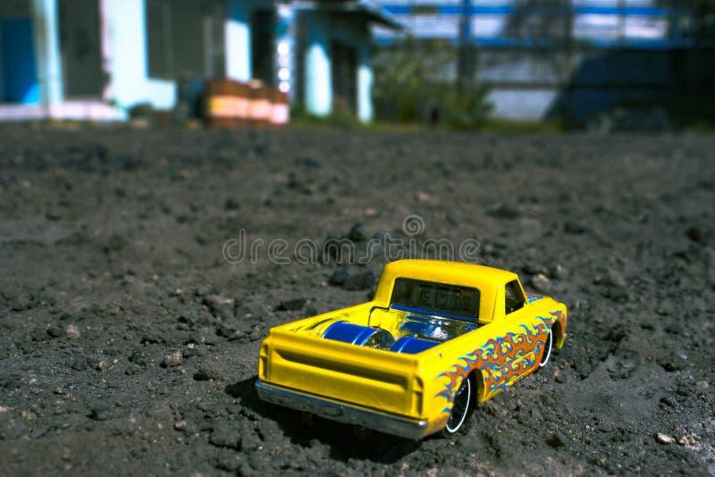 Meu amarelo de Hotwheels fotografia de stock