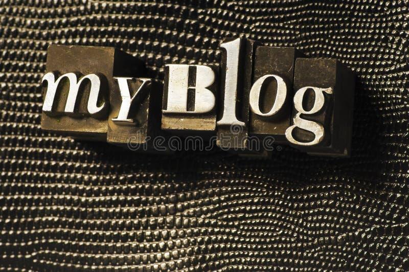 Meu blogue foto de stock royalty free