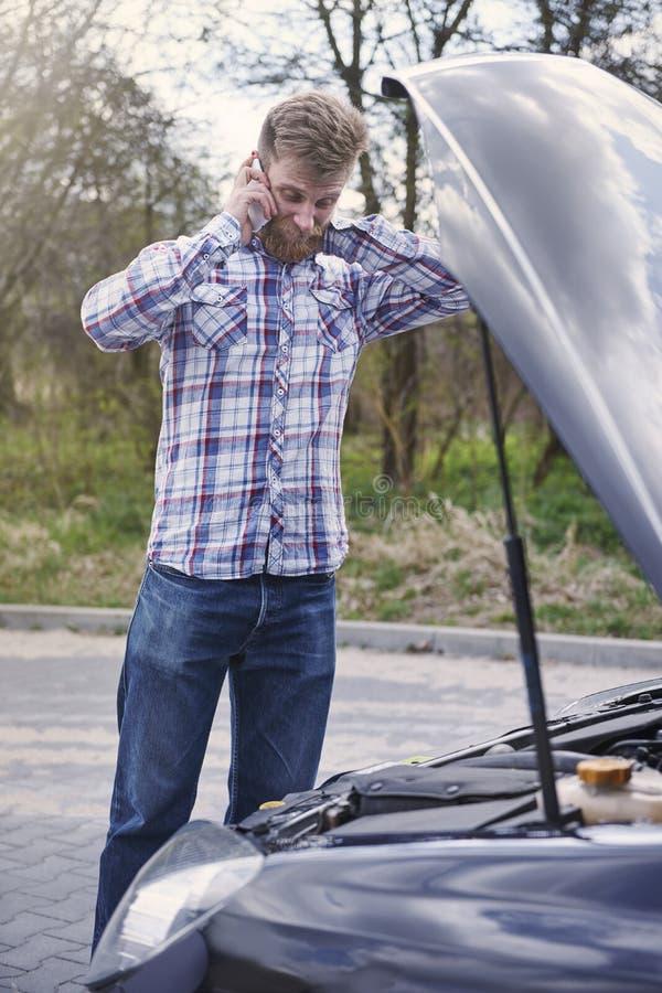 Meu carro é quebrado fotos de stock