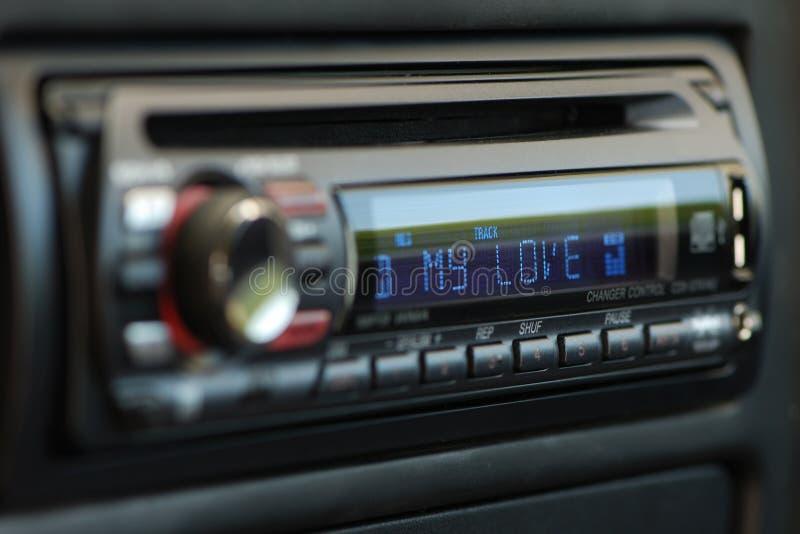 Meu carro do áudio do amor foto de stock