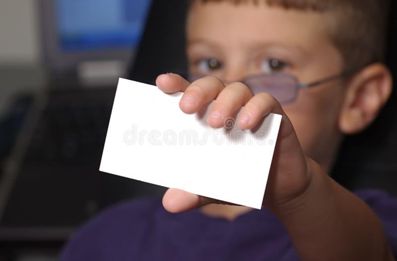 Meu Cartão Imagem de Stock