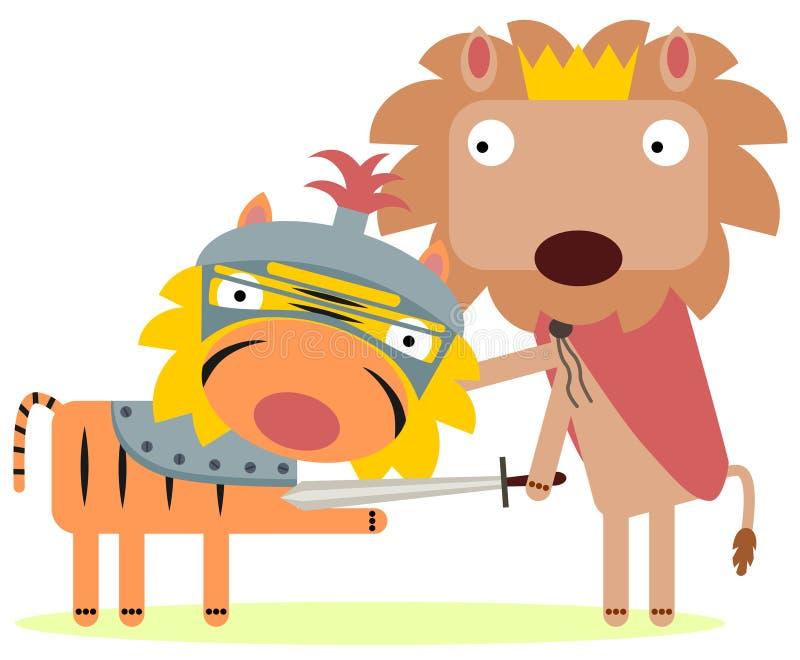 Meu cavaleiro ilustração royalty free