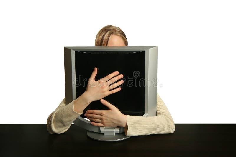 Meu computador foto de stock