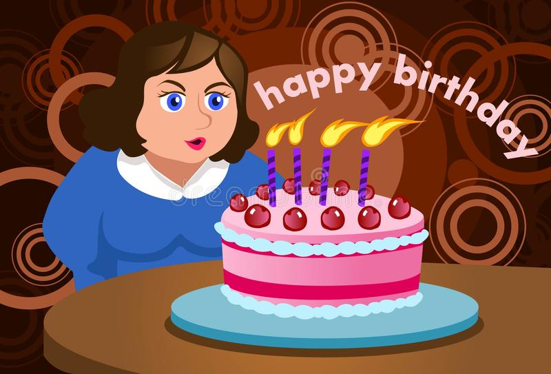 Meu desejo do aniversário é tornar-se magro ilustração royalty free