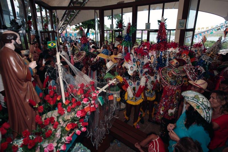 meu för festival för karneval för boibrazil bumba arkivbild