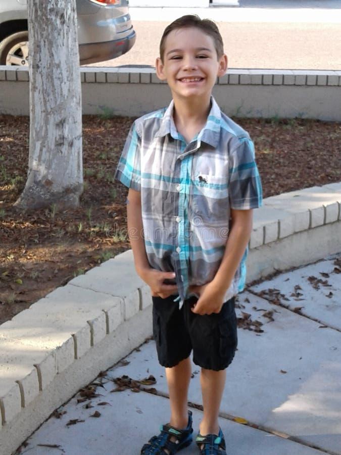 Meu filho fotografia de stock royalty free