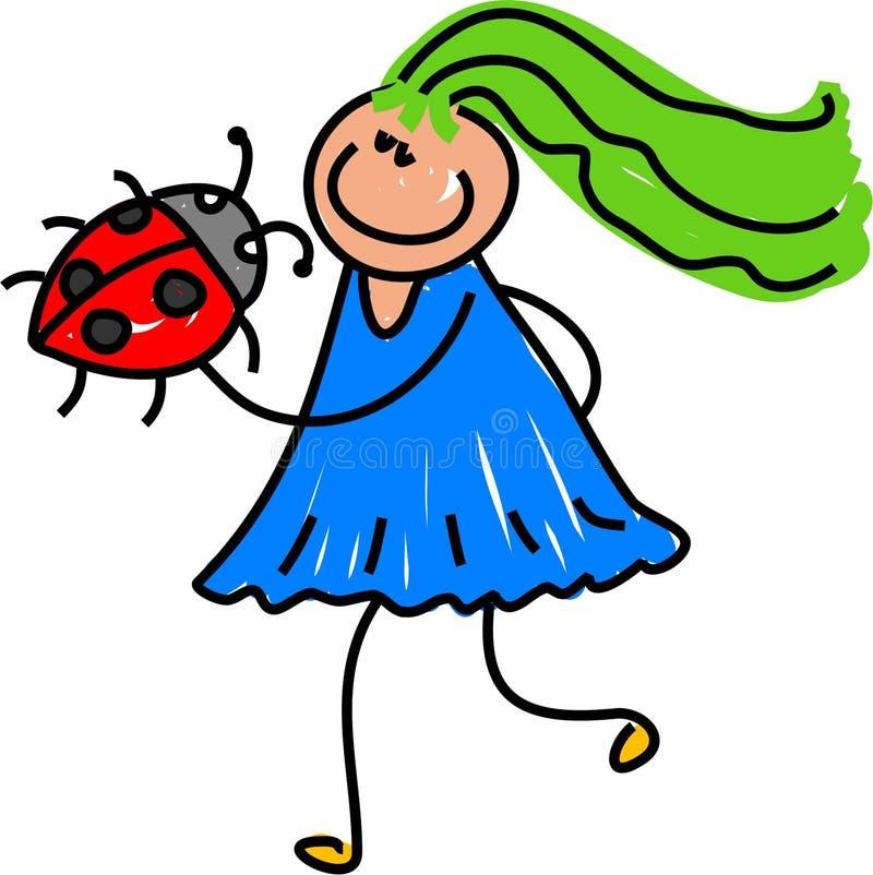 Meu ladybug ilustração do vetor