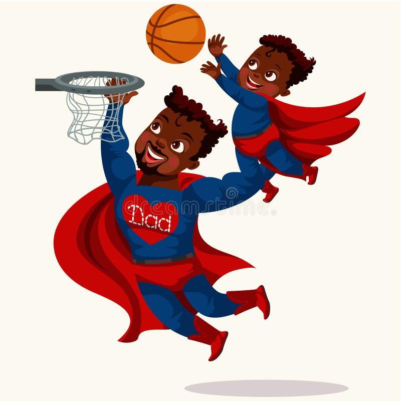 Meu paizinho é cartaz colorido do super-herói ilustração do vetor