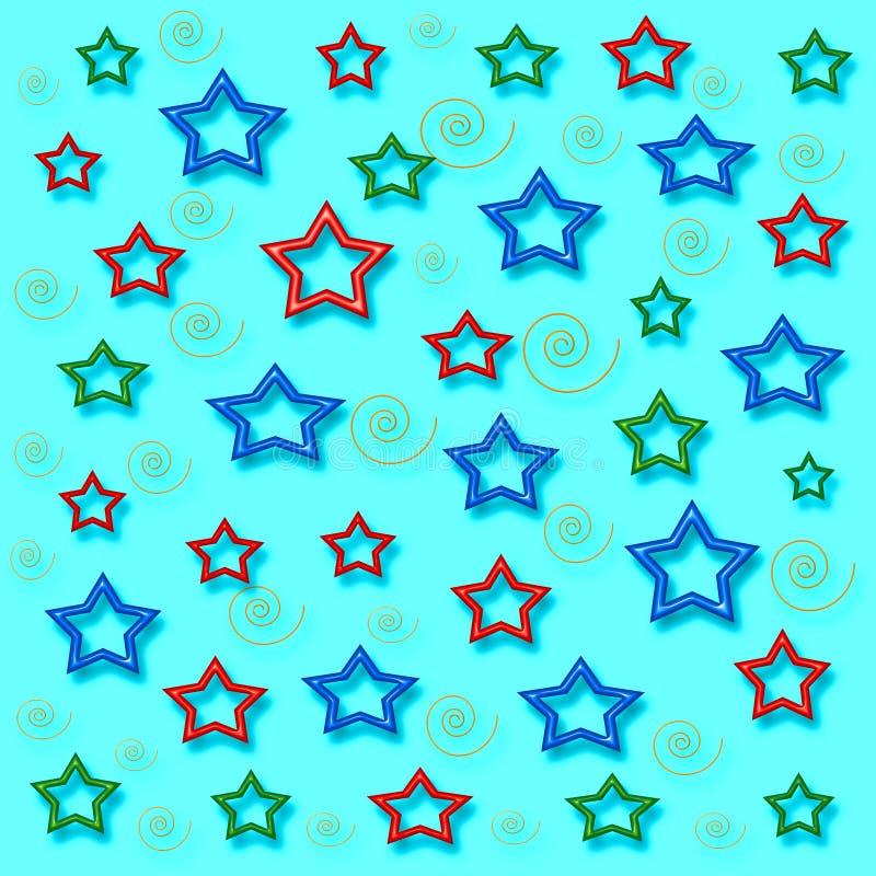 Meu papel do presente das estrelas ilustração stock