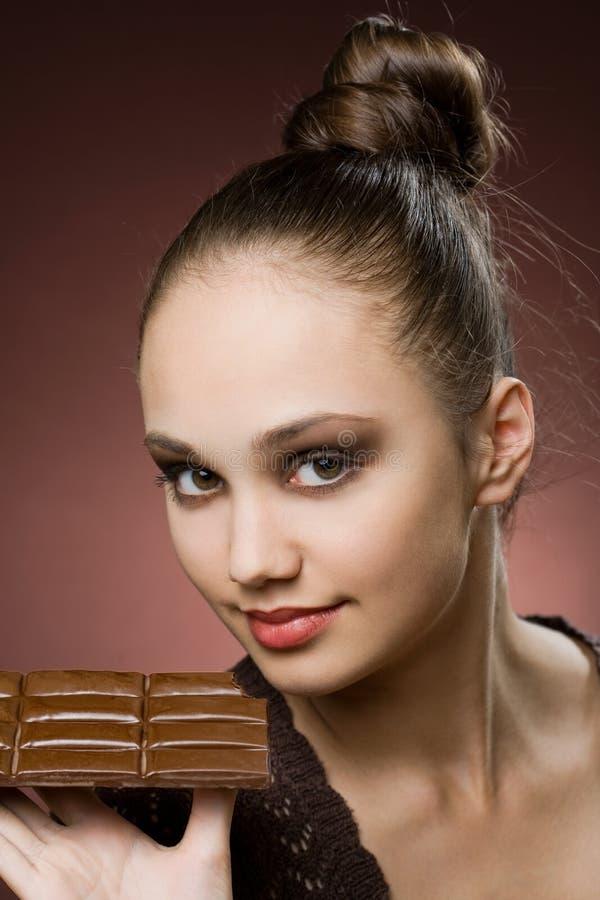 Meu pecado do chocolate. imagem de stock
