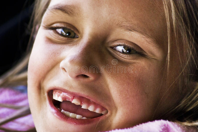 Meu primeiro dente grande imagens de stock royalty free