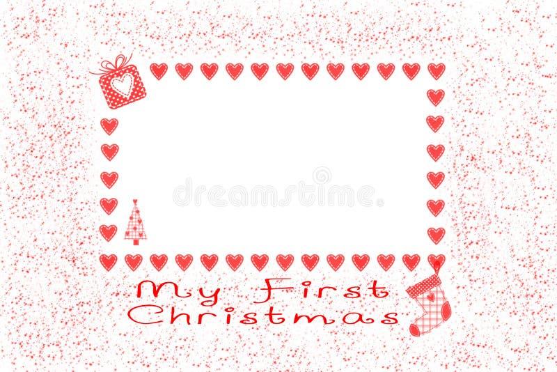 Meu primeiro Natal imagem de stock