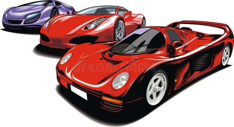 Meu projeto original dos carros desportivos ilustração royalty free