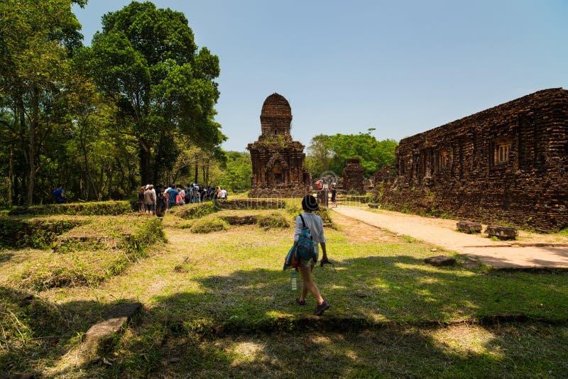 Meu templo do filho - Vietname foto de stock