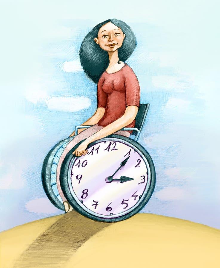 Meu tempo ilustração stock