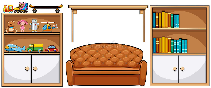 meubilair stock illustratie