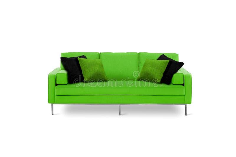 Meubilair - groene bank royalty-vrije stock foto's